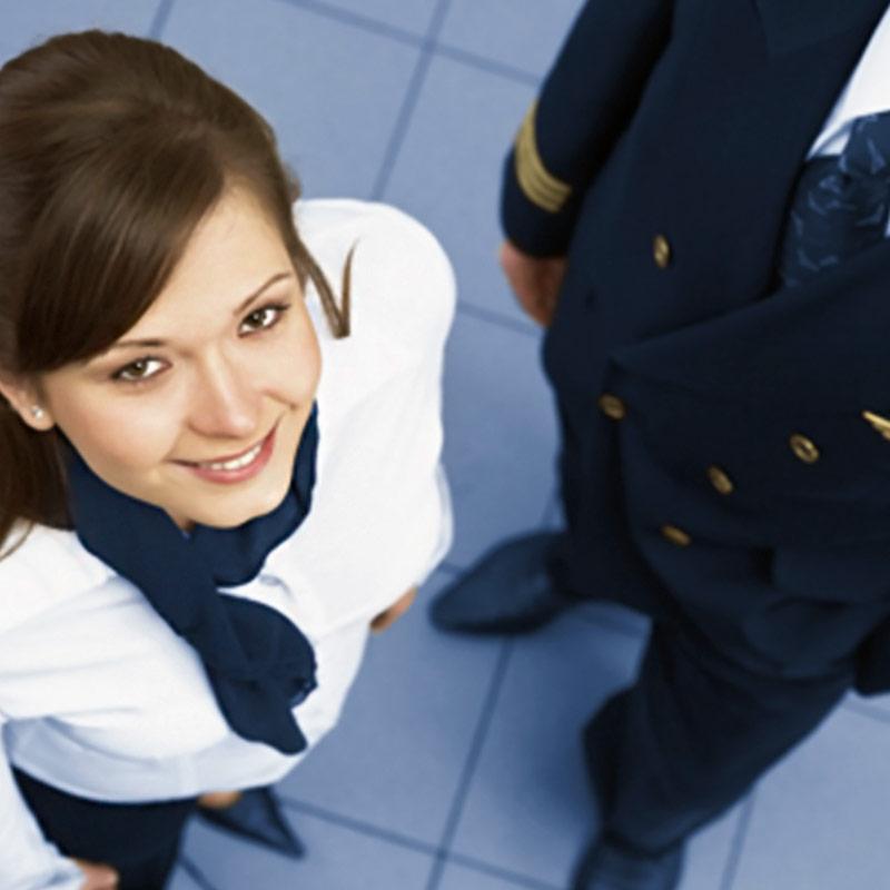 Fardas e uniformes de aviação
