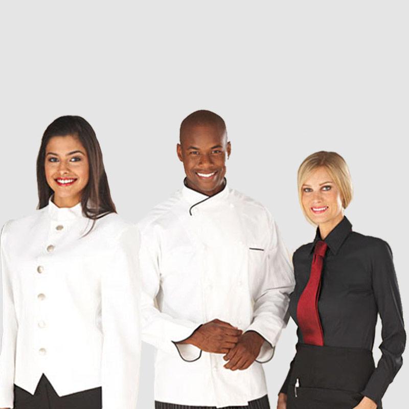 Fardas e uniformes para restauração e hotelaria