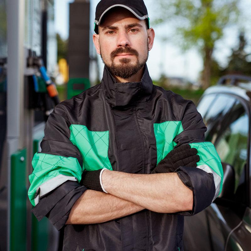 Fardas e uniformes para indústria petrolífera, de gás e de energia