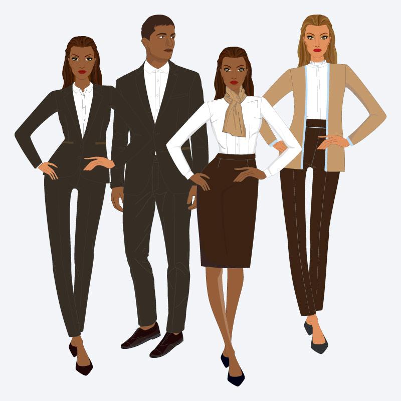 Tipos de fardas e de uniformes institucionais e corporativos