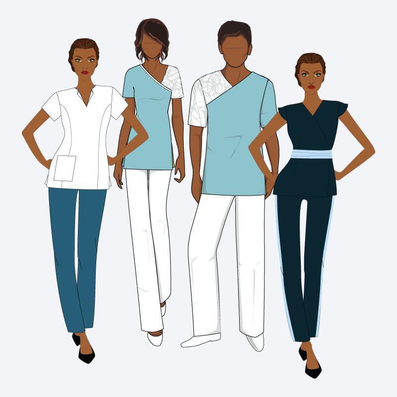 Tipos de fardas e de uniformes para estética, ginásios e SPA