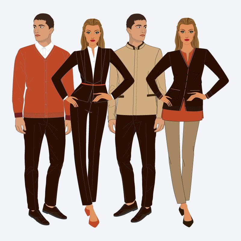 Fardas e uniformes para hotéis e restaurantes