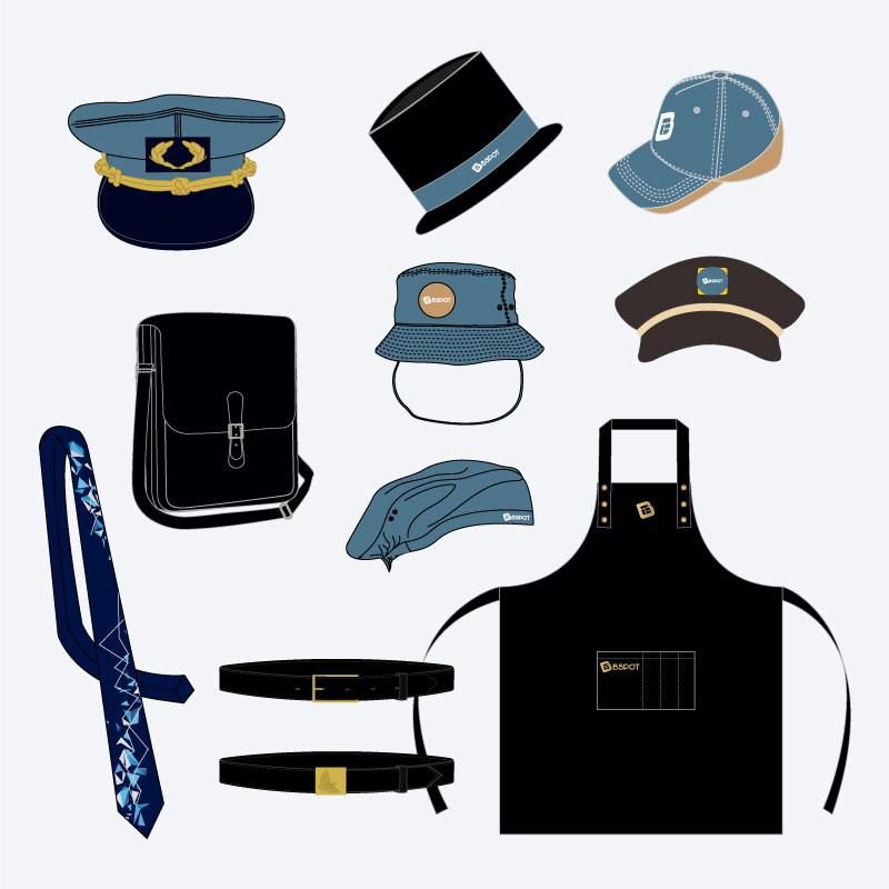 Tipos de acessórios para fardas e uniformes
